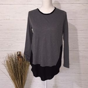 Two by Vince Camino Grey/gray & Black Tunic-S